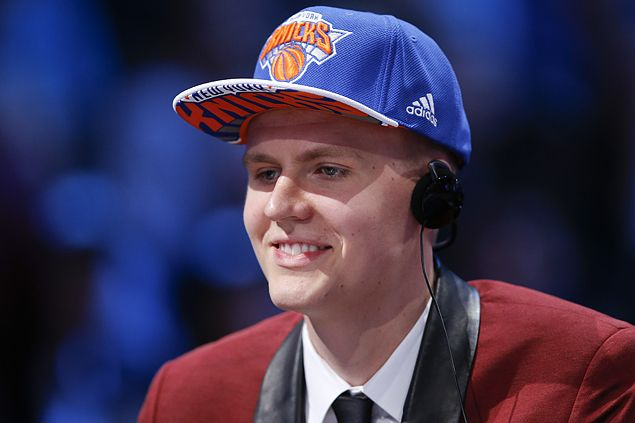 Latvian Porzingis vows to turn boos into cheers as he joins New York Knicks
