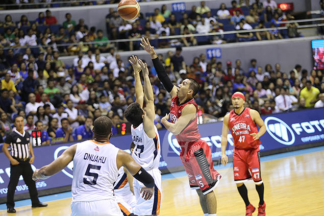 Ginebra assures self of higher seeding, momentum entering playoff after blasting Meralco