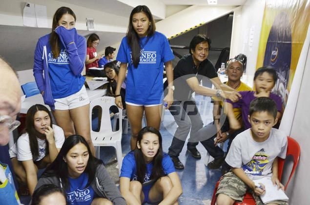 Alyssa Valdez, Lady Eagles a bundle of nerves while cheering for 'big brothers' from press room