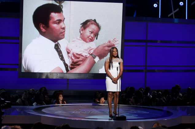 Laila Ali chokes up as she talks about outpouring of love for late dad