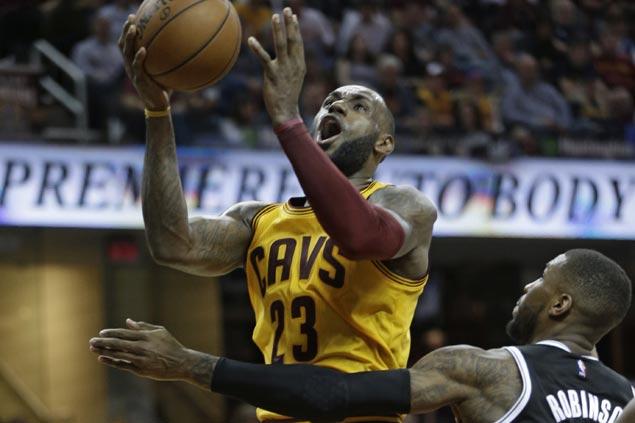 Cavaliers clobber hapless Nets to tighten grip on East's top spot