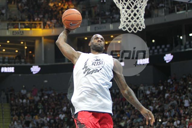 LeBron James not one to disappoint, wows Pinoy fans in Nike Rise game at MOA