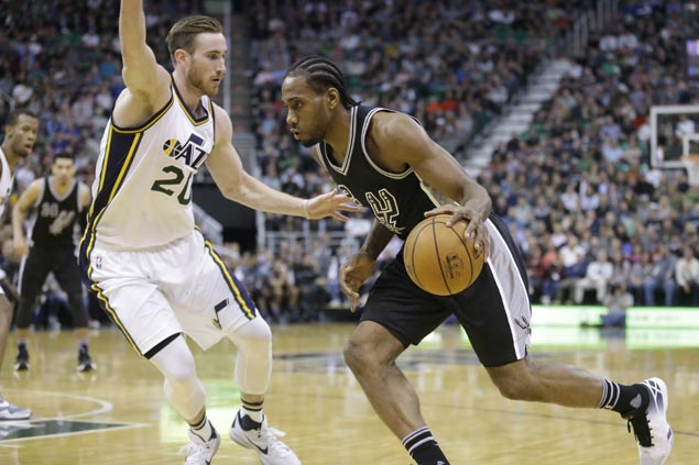 Leonard, Parker help Spurs put away Jazz in fourth to improve to 6-1 on Rodeo trip