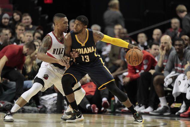 Lillard-led Blazers end Pacers win streak as Paul George's guns turn cold