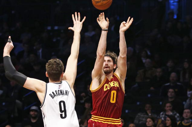 Cleveland bounces back strong after embarrassing loss with rout over Brooklyn behind Kevin Love's big night