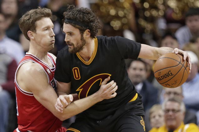 Kevin Love repays Cleveland trust with big game as Cavs send shorthanded Bulls to fifth straight loss