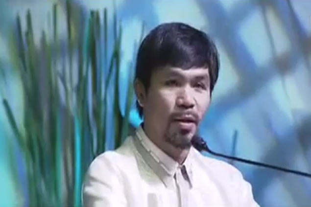 Pacquiao declares 'wholehearted' support for Duterte, vows to bring common sense to Senate