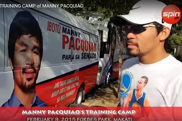 WATCH: Manny Pacquiao's pre-training camp workout