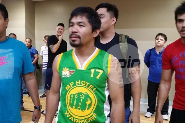 Manny Pacquiao slowly getting back in shape after joining Aguilas in tune-up games