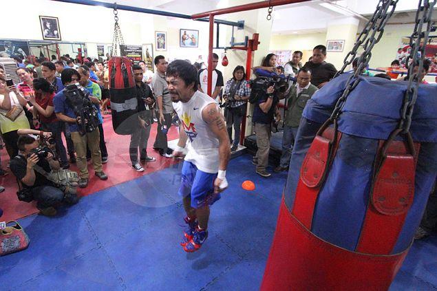 Pacquiao eases fears of getting injured playing basketball ahead of Mayweather fight: 'Alam ko naman ginagawa natin'