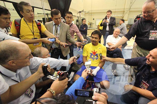 Unperturbed Manny Pacquiao on brash, confident challenger Chris Algieri: 'He's a boy'
