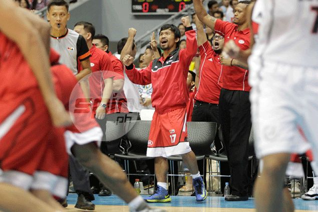 Manny Pacquiao turns focus back to Algieri fight after winning PBA debut with KIA