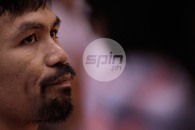 Coach Manny Pacquiao gives KIA players a pep talk ahead of Ginebra game - via speakerphone