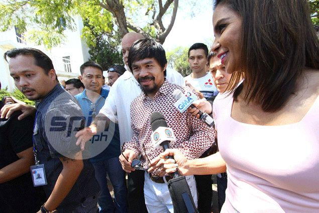 Pacquiao assures supporters there's nothing to worry about as fight nears: 'Relax lang kayo'