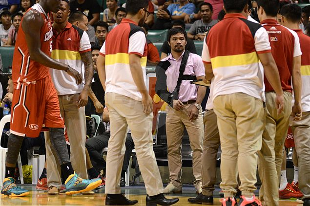 Pacquiao's mere presence more than enough to inspire Kia in giving Barangay Ginebra a big scare