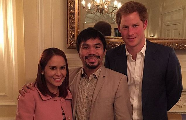 Amid waiting game for Floyd fight, Pacquiao keeps busy with Ms Universe judging, dinner with Prince Harry
