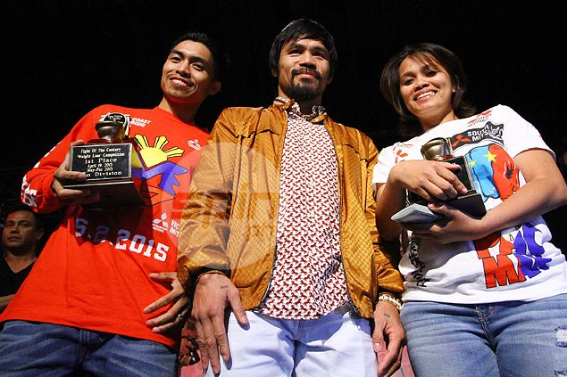 Pacquiao gives away P6.5 million in prizes to entourage at end of weight-loss contest