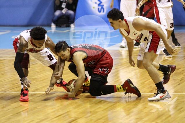 Leo Austria left to rue costly turnovers as San Miguel lets Game 1 slip away