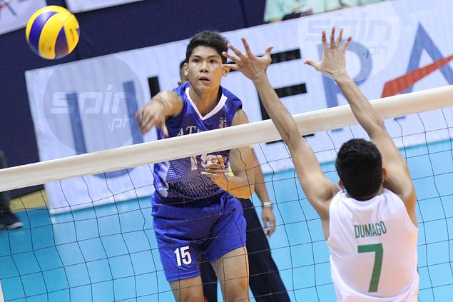 Ateneo Blue Eagles spikers too good for rival De La Salle, but coach far from happy