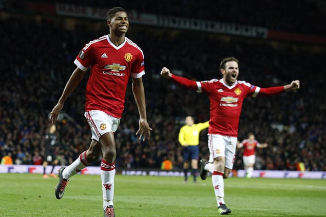 Teen striker Marcus Rashford spares Manchester United from upset against unheralded Danish club in Europa League