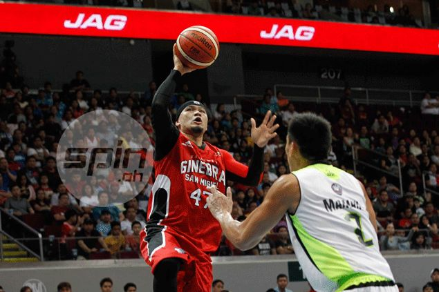 Cold off the bench, Mark Caguioa shows he can still deliver when number is called