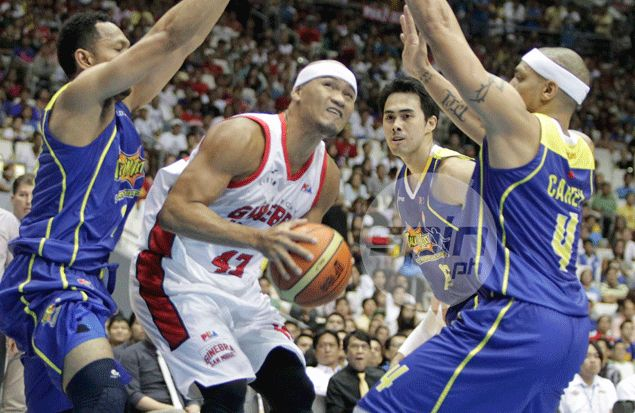 Why was Caguioa benched in second half of Ginebra loss to Blackwater? This much we learned