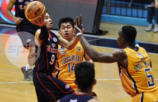 Mark Cruz's late game explosion steers Letran past Jose Rizal in OT