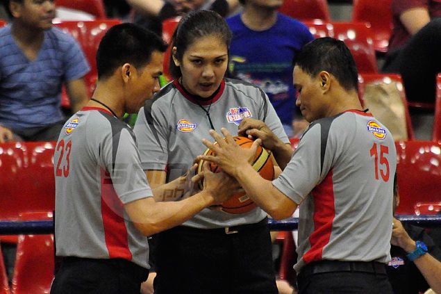 Mary Jane Umana makes history as first woman referee to work PBA D-League game