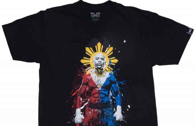 Pacquiao has perfect response when asked about Mayweather shirt adorned with PH colors