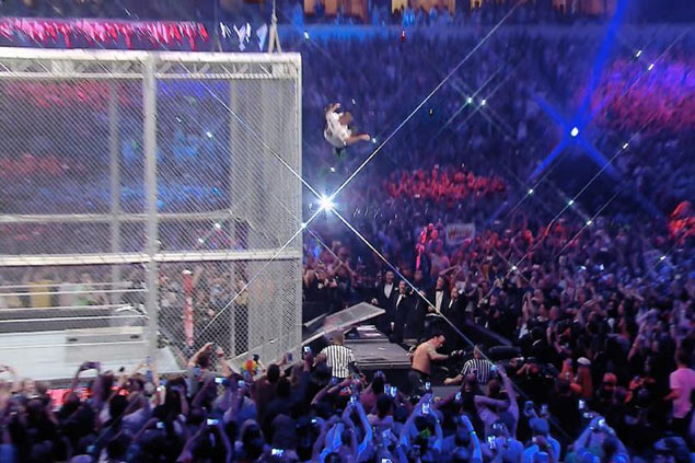 WATCH: Shane McMahon skies for show-stopping stunt but Undertaker wins in Wrestlemania 32