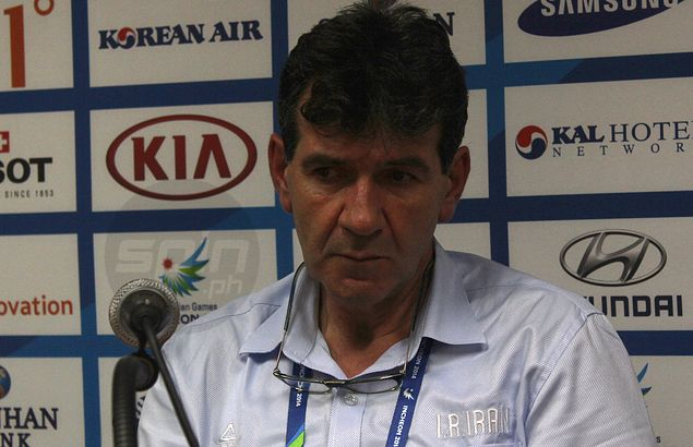 Iran coach Mehmed Becirovic joins Reyes in criticizing 'messed up' Asian Games schedule