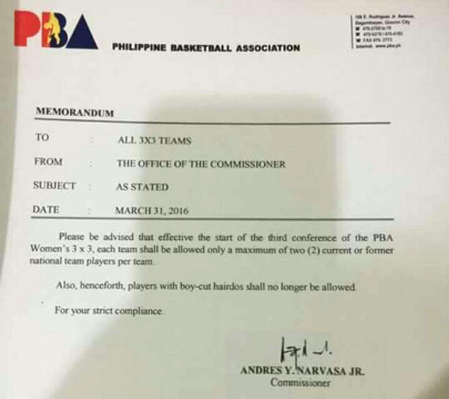 PBA under fire for 'discriminatory' rule banning boy-cut hairdos from women's league