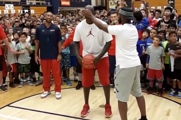 Chris Paul bets free shoes for all campers if Michael Jordan misses shot. He didn't