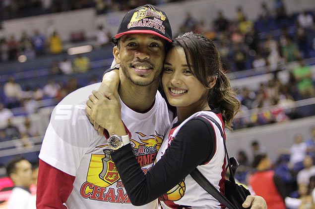 WAGS: Michelle Madrigal doesn't mind getting carried away cheering for boyfriend Chris Ross