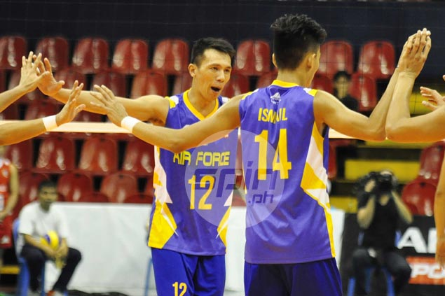 Air Force takes down Cignal to draw first blood in Spikers Turf finals