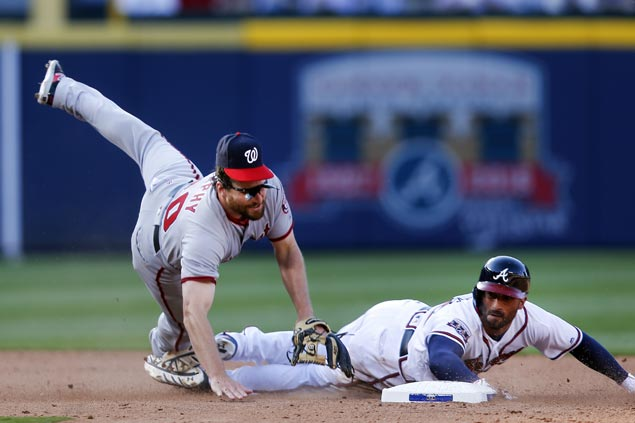 Daniel Murphy a huge hit in Washington debut as Nationals rally past Braves in 10 innings