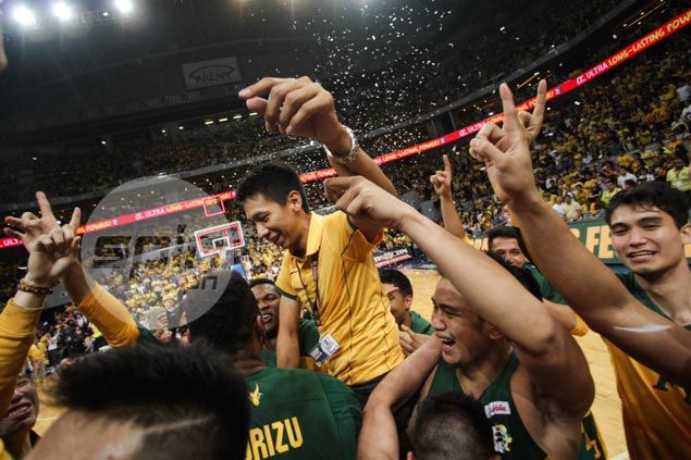 Birthday shower for Nash Racela as FEU players deliver special gift just as promised