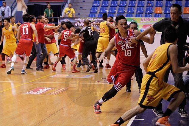 Ugly bench-clearing incident mars NCAA game between EAC Generals, Mapua Cardinals