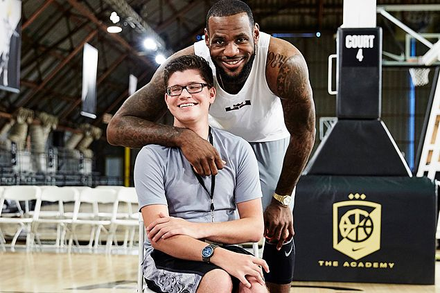 Nike helps change the life of a disabled teen with customized LeBron shoes