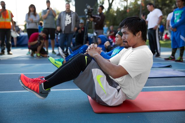 Pacquiao training regimen, mental toughness featured in Nike documentary. Watch VIDEO