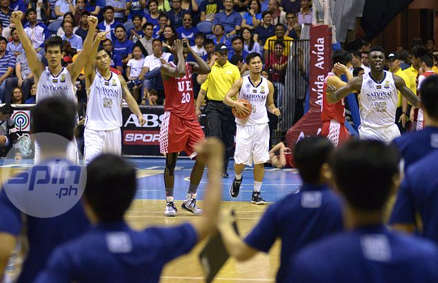 Joshua Alonino, Alfred Aroga complete NU Bulldogs fightback against UE Red Warriors