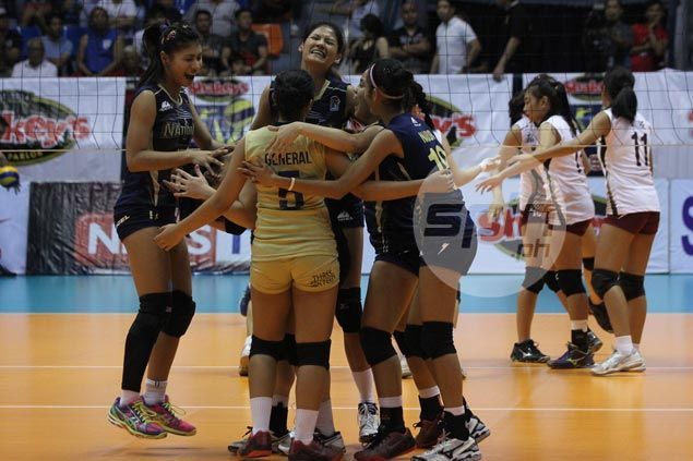 Dindin Santiago celebrates NU reunion with sister Jaja in four-set win over Lady Maroons