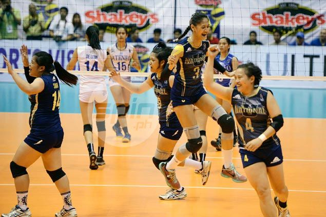 Gritty NU Lady Bulldogs clip Ateneo Lady Eagles' wings to win Shakeys V-League title