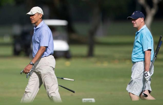 Barack Obama says he was hustled on the golf course by Derek Jeter: 'Hestole money from me'