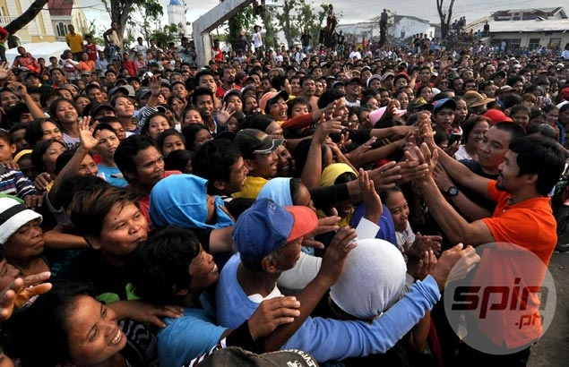 Pacman a source of hope, inspiration for people affected by typhoon Yolanda