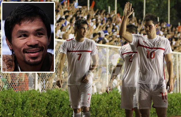 Manny Pacquiao returns the compliment as he wishes the Azkals well too in their Suzuki Cup campaign