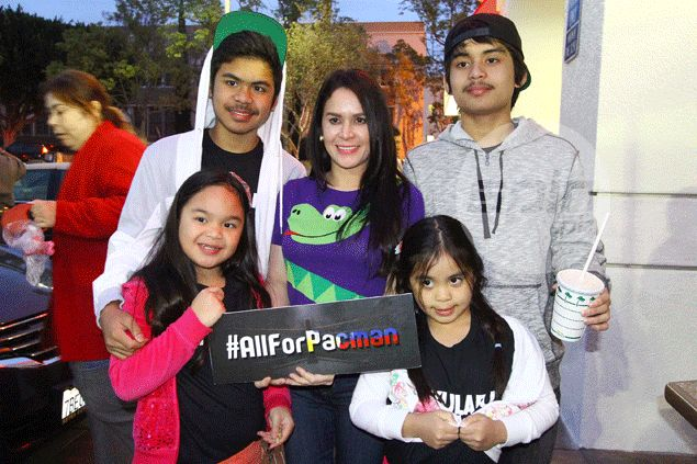 Jinkee Pacquiao without a care in the world days before highly awaited showdown