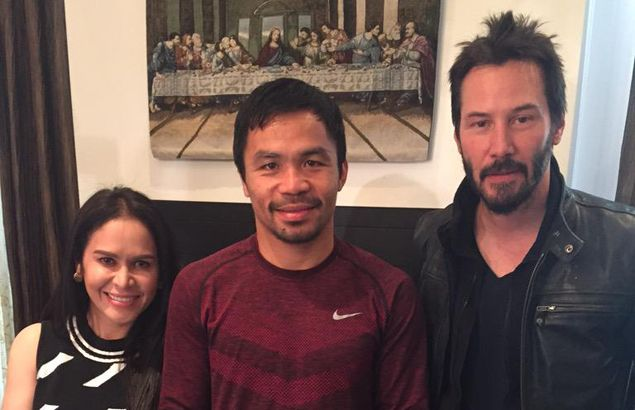 Manny Pacquiao gets visit from The Matrix star Keanu Reeves in Hollywood home