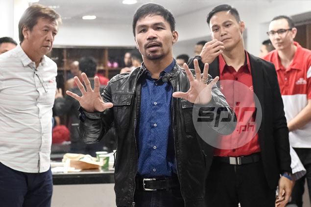 No bonuses but Pacquiao promises 'big one' should Mahindra make PBA playoff