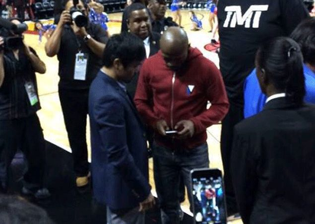 TV execs say Pacquiao, Mayweather chance meeting in Miami Heat game the 'clincher' for megafight